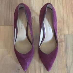 Banana Republic Suede Heels. Wine color. Size 7.5
